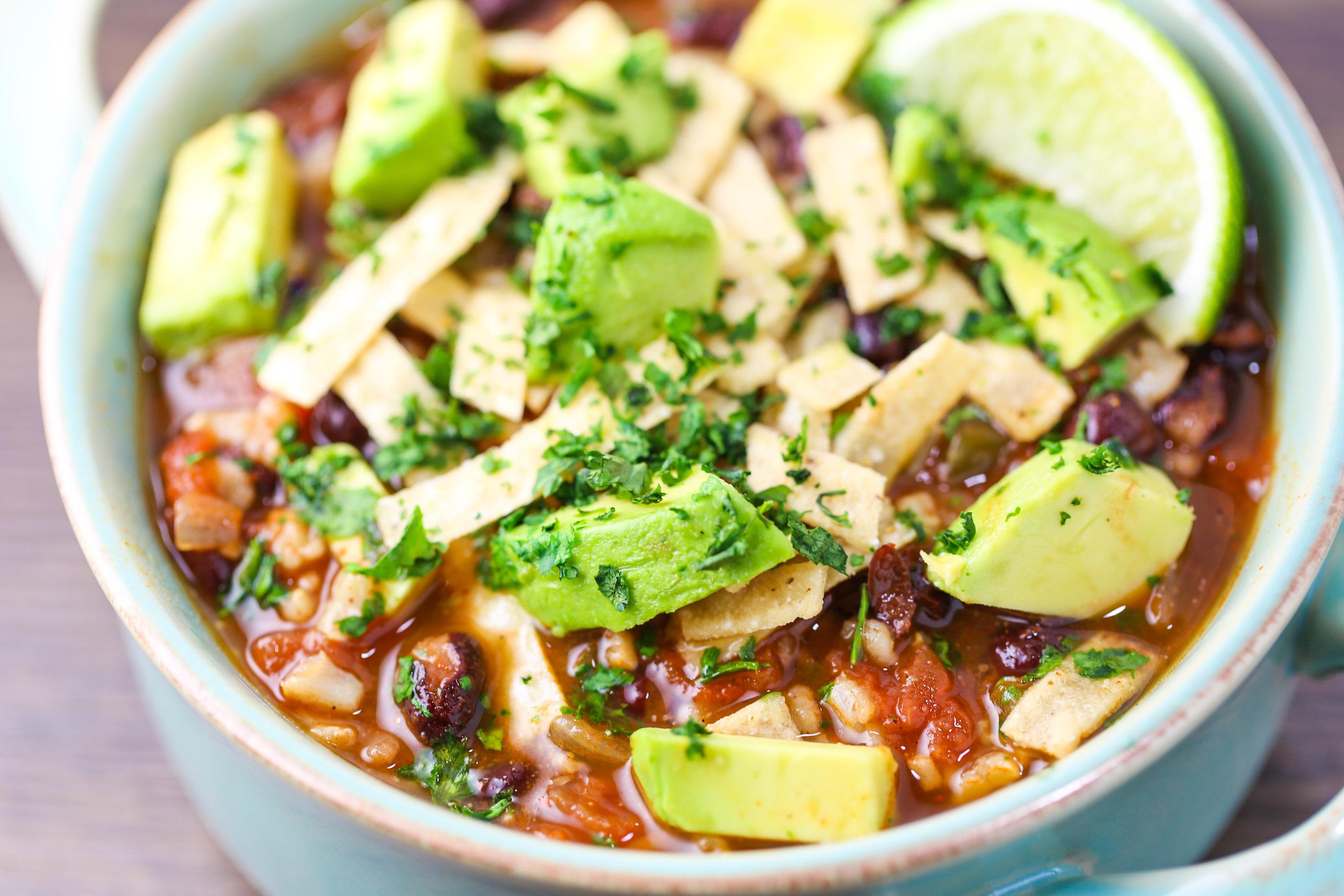 Chrissy Teigen's Vegetable Tortilla Stew