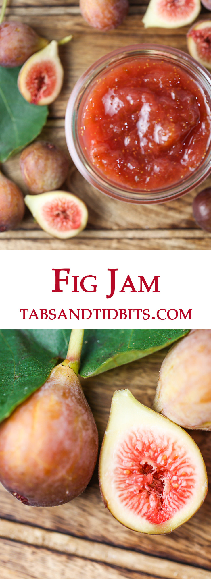 An easy to make jam with fresh figs, lemon juice, and sugar create a sweet and simple treat!