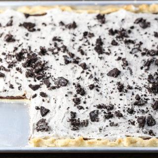 Cookies & Cream Slab Pie