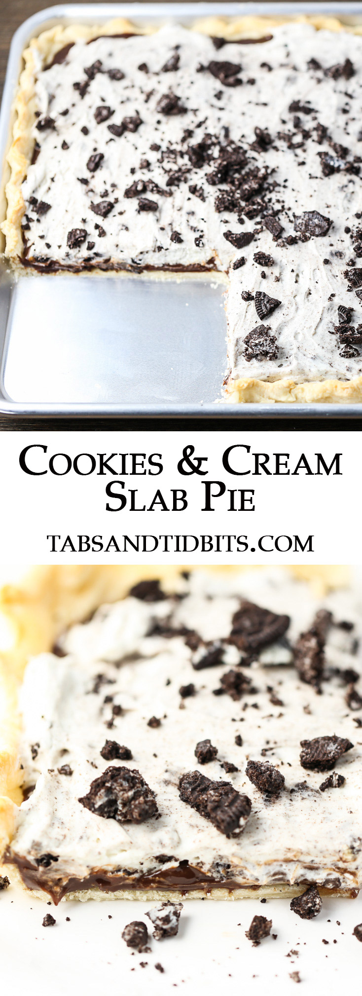 Pie crust layered with fudge sauce, a decadent combination of cream cheese and whipped cream with crushed cookies, and a final layer of more crushed cookies!