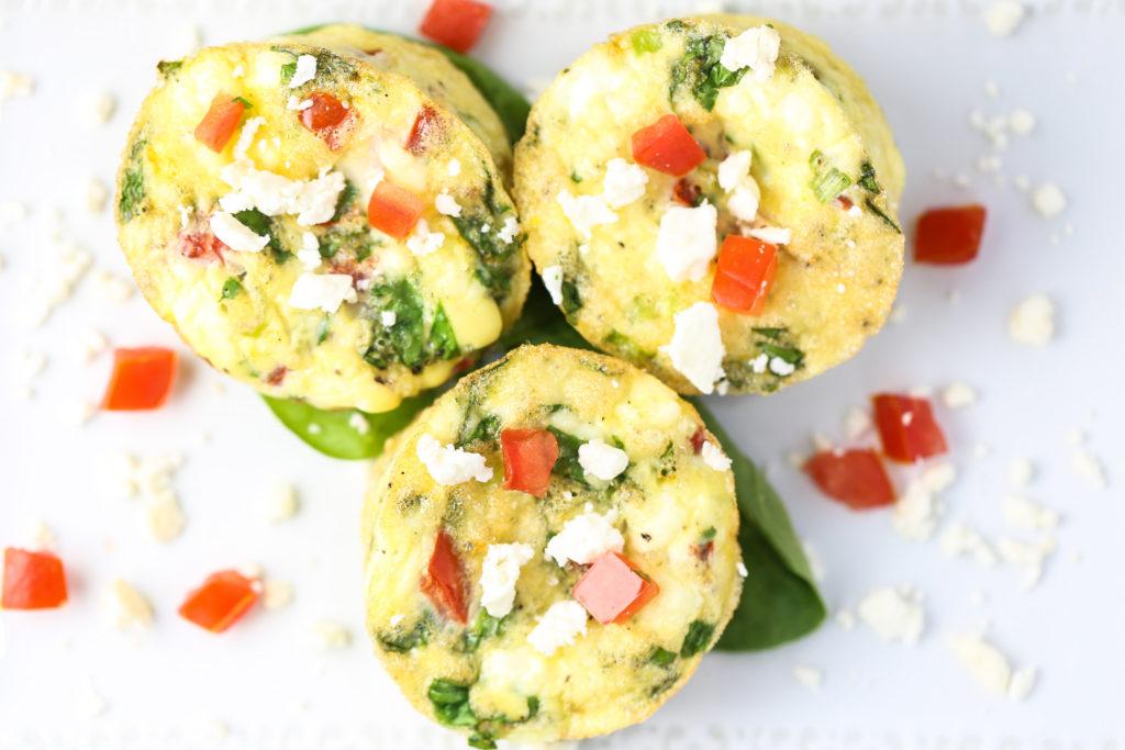 Spinach & Tomato Egg Muffins