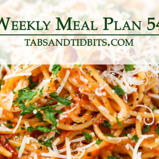 Vegetarian Weekly Meal Plan!