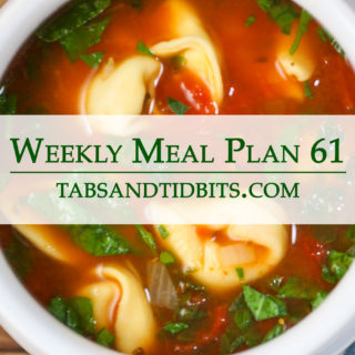A weekly vegetarian meal plan filled with easy to make dinners!