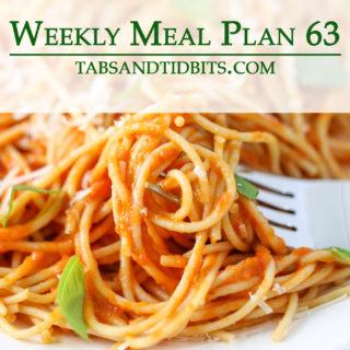 Easy to make vegetarian meal plan!