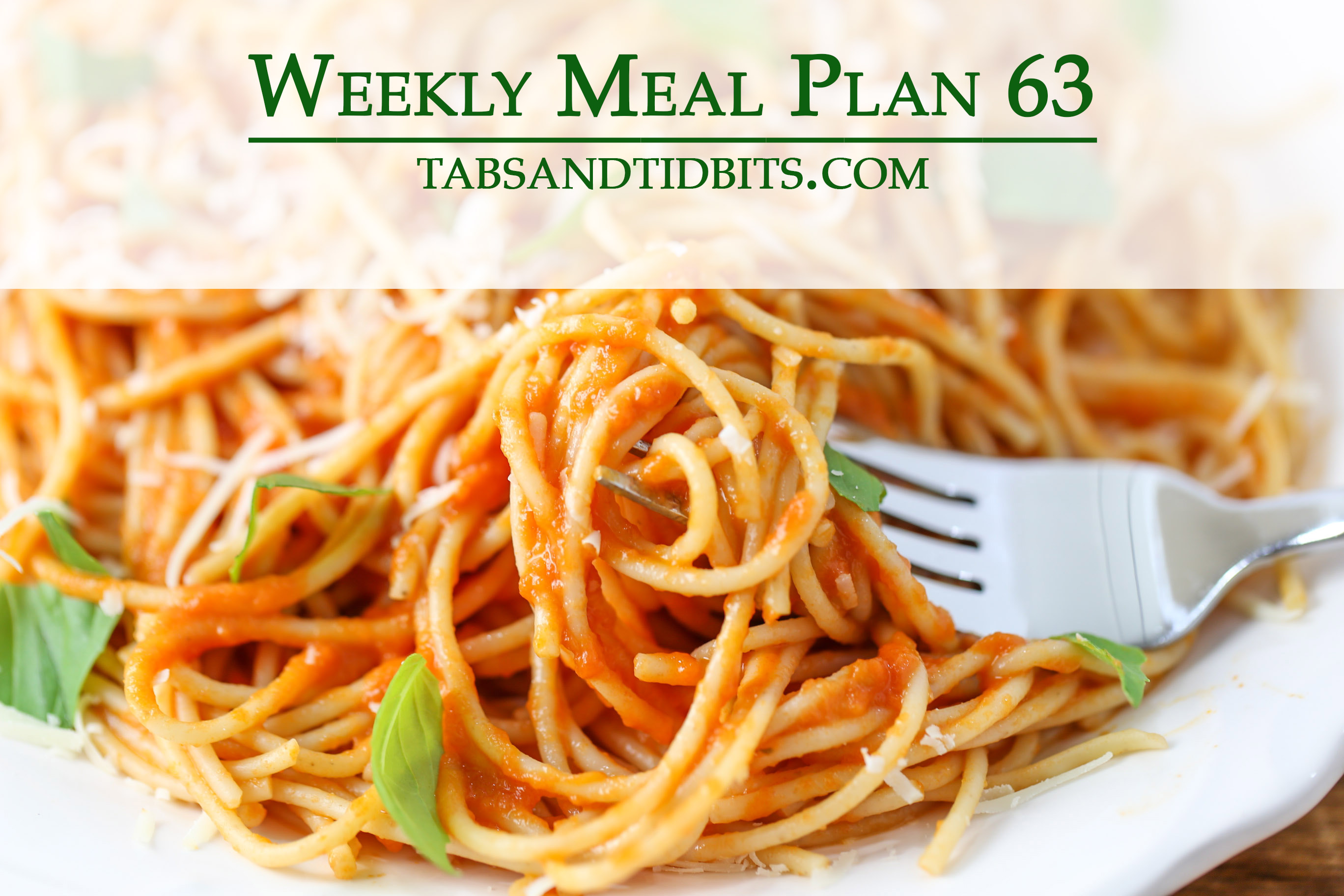 Easy to make vegetarian meal plan!