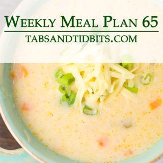 Easy vegetarian weekly meal plan!