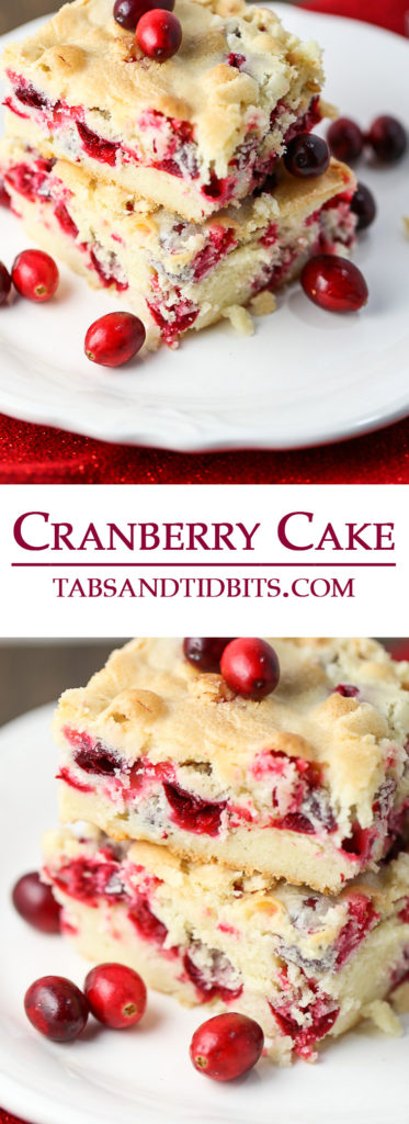 This cake is a dense and rich cake balanced out with bright and tart cranberries!