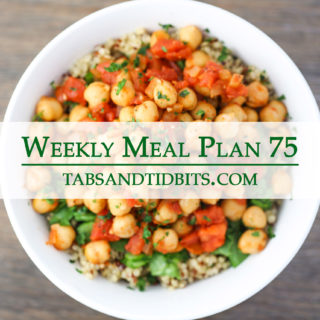 Easy & tasty vegetarian meal plan!