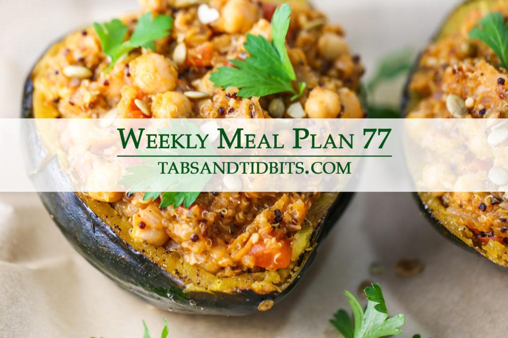 Vegetarian weekly meal plan full of easy to make dinners!