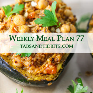 Vegetarian weekly meal plan full of easy to make dinners!