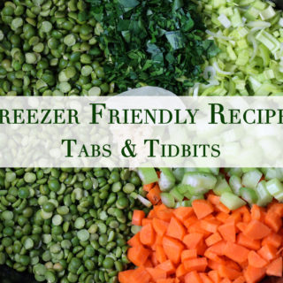 Vegetarian recipes for the freezer!
