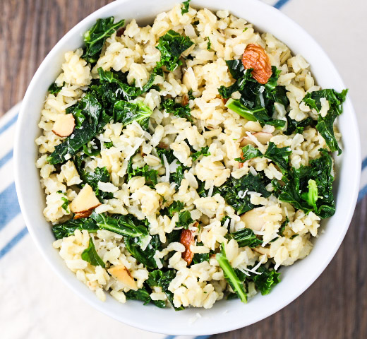Brown Rice with Kale