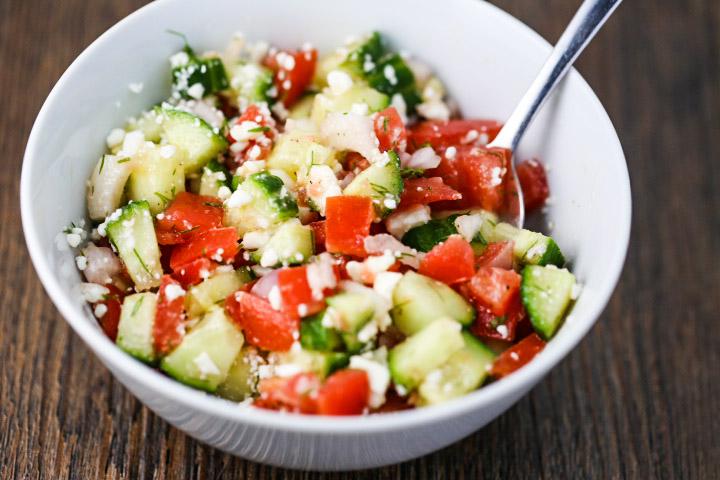 Greek Tomato & Cucumber Salad
