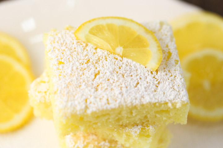 2 Ingredient Lemon Cake Bars